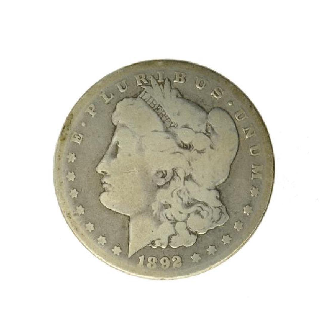 1892-CC Silver Morgan Dollar Coin (JG)