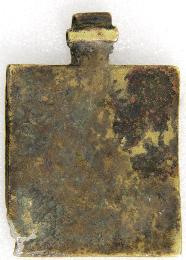 Old Testament Trinity Russian Metal Icon, 18th C - 2