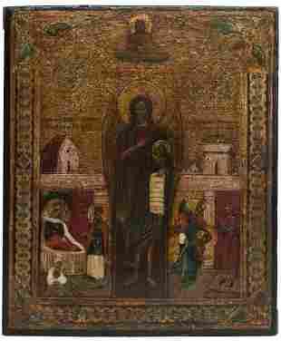 John the Baptist Russian Icon, 19th C