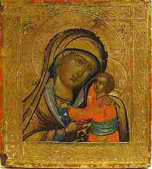 Schuyskaya Mother of God Russian Icon, 19th C