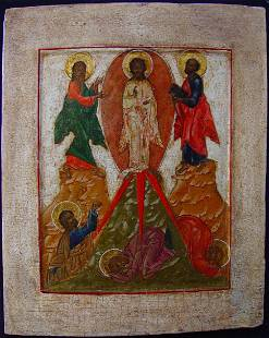 Transfiguration on Mount Tabor Russian Icon, 18th C