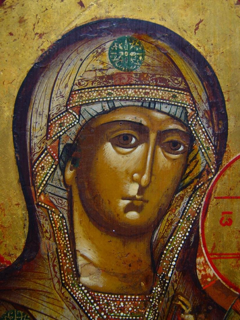 Mother of God of Iver/Iberian Russian Icon, 19th C - 3