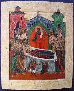 Dormition Russian Icon, 19th C