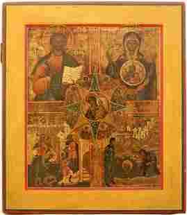 Multi-Panel Large Russian Icon, 1800