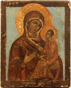 Our Lady Hodegetria of Tichvin Russian Icon, 1820