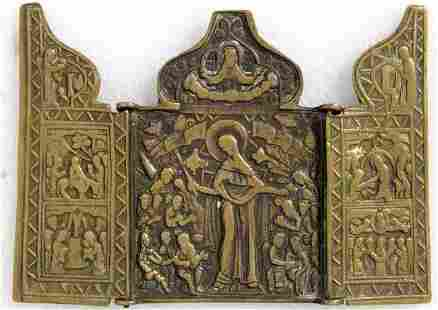 Our Lady of Suffering & Feasts Russian Triptych Icon