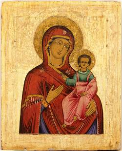 Our Lady of Smolensk Russian Icon, 19th C