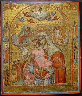 Mother of God Russian Kykkos Icon, 19th C