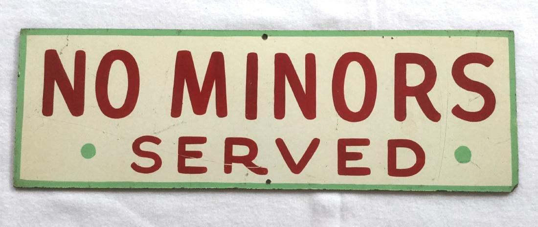 No Minors Served Bar Sign