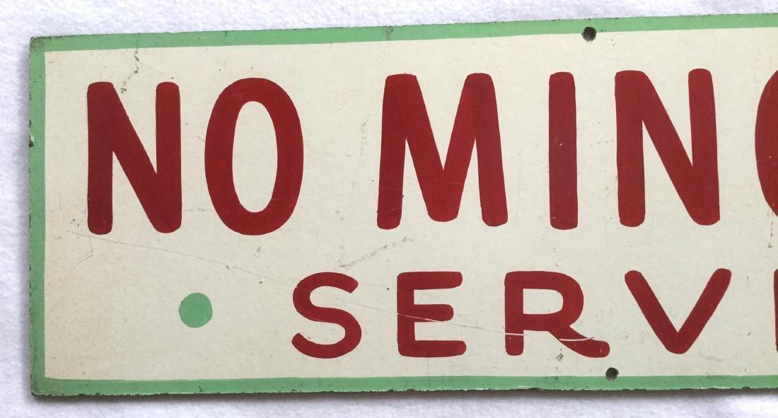 No Minors Served Bar Sign - 2