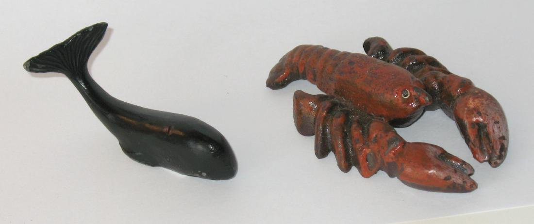 Cast Iron Whale Chart Weigh & Lobster Bottle Opener