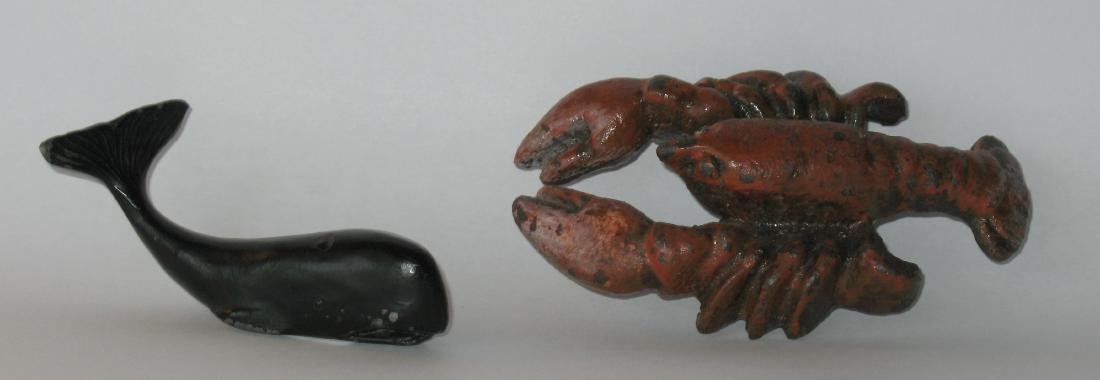 Cast Iron Whale Chart Weigh & Lobster Bottle Opener - 2