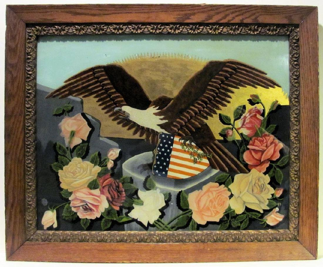 Reverse Glass Eagle Painting