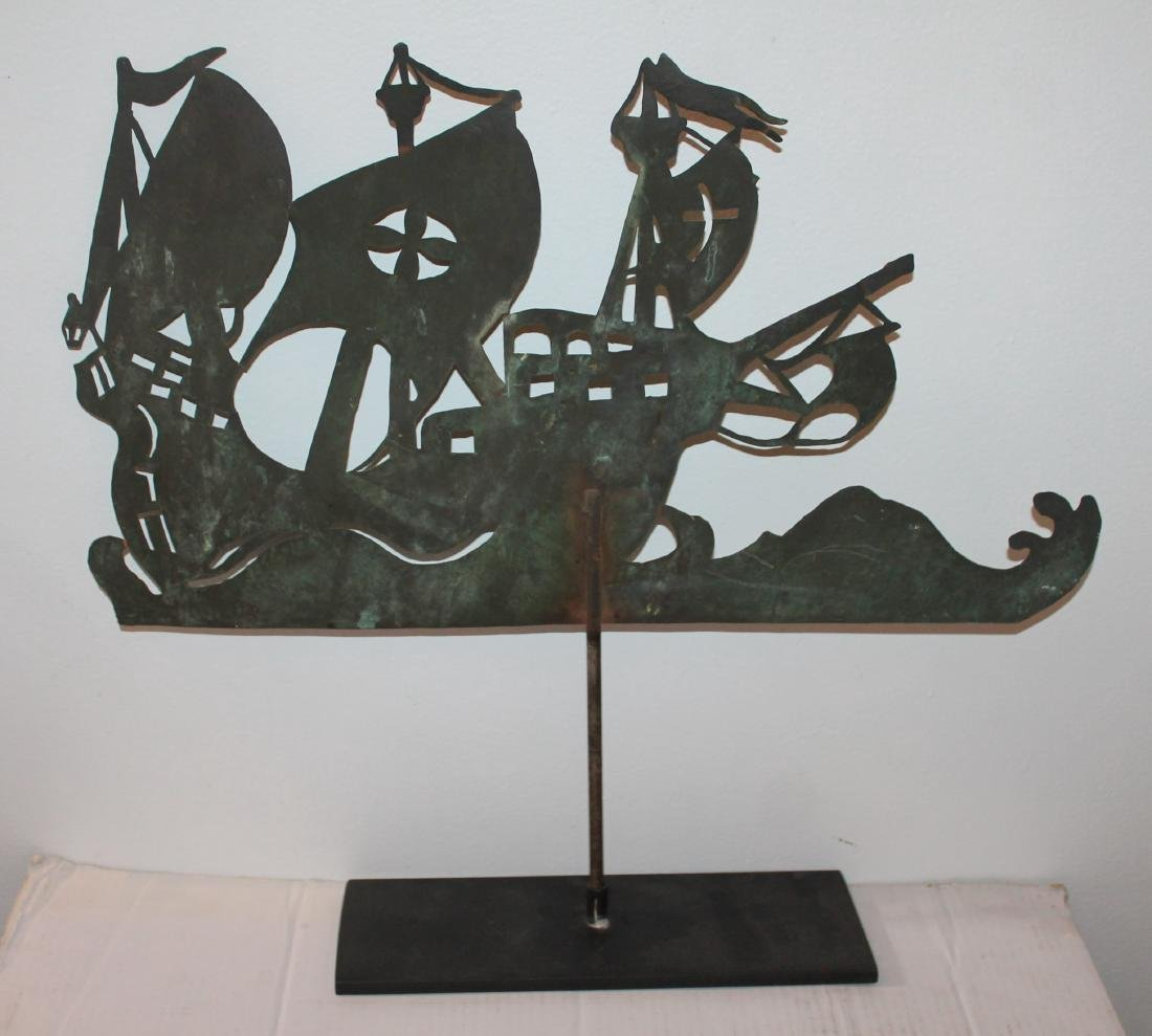 New England Copper Sheet Spanish Galleon Weather Vane