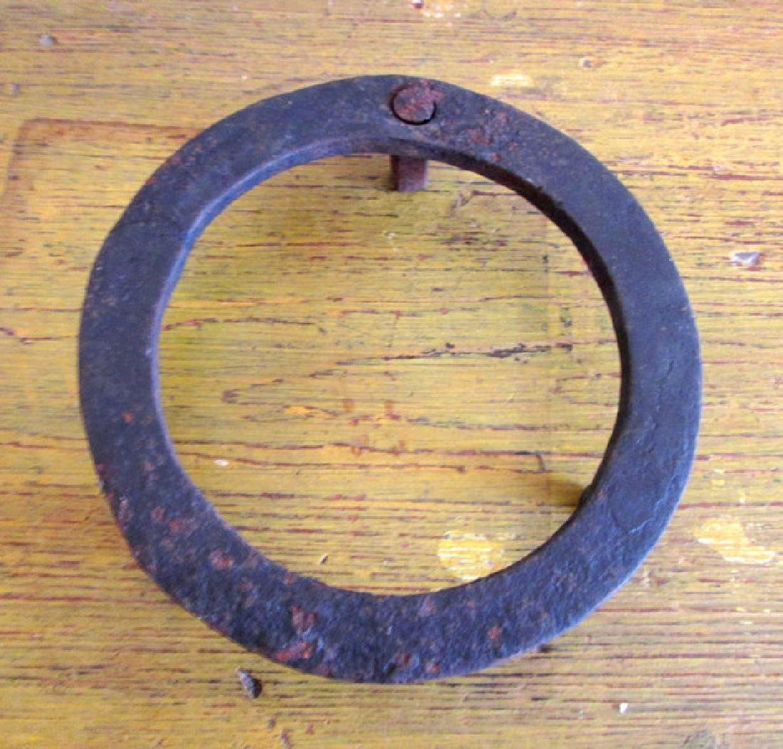 Small Early Forged Iron Trivet - 2