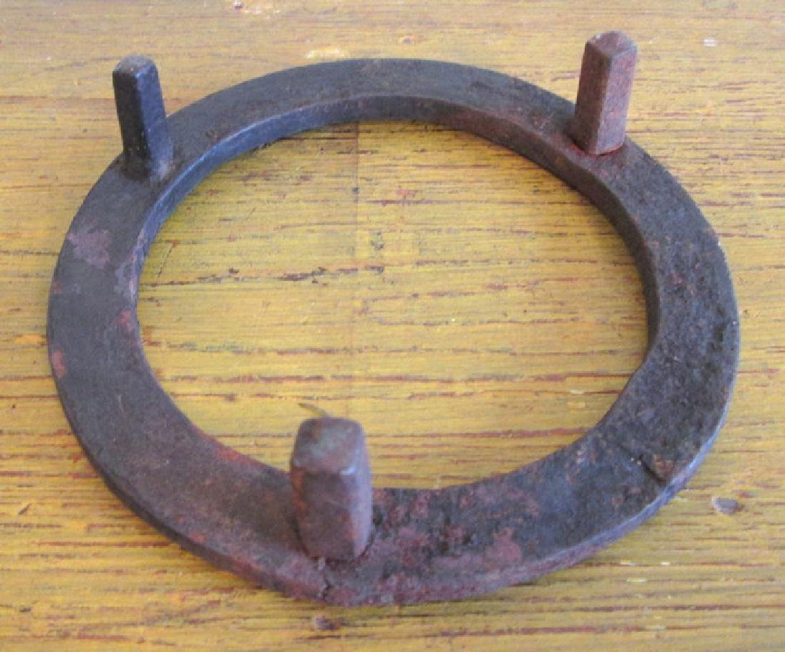 Small Early Forged Iron Trivet - 5