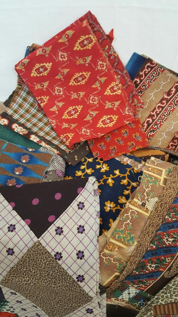 Lot of 19th Century Fabrics - 2