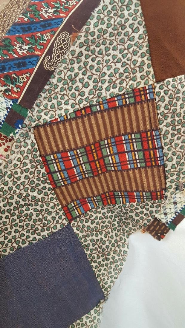 Lot of 19th Century Fabrics - 3