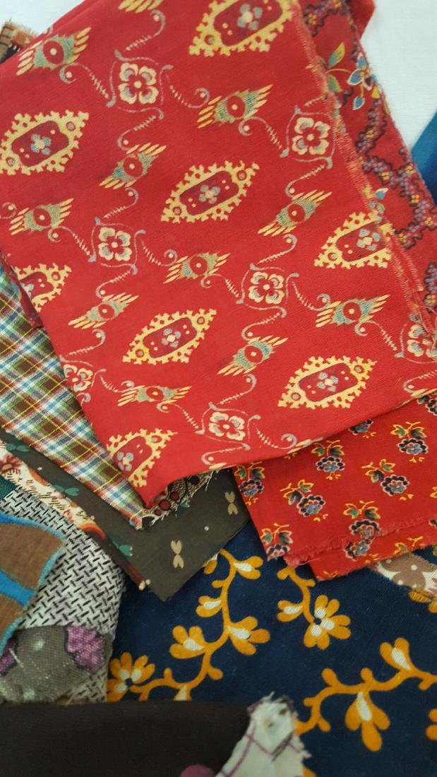 Lot of 19th Century Fabrics - 6