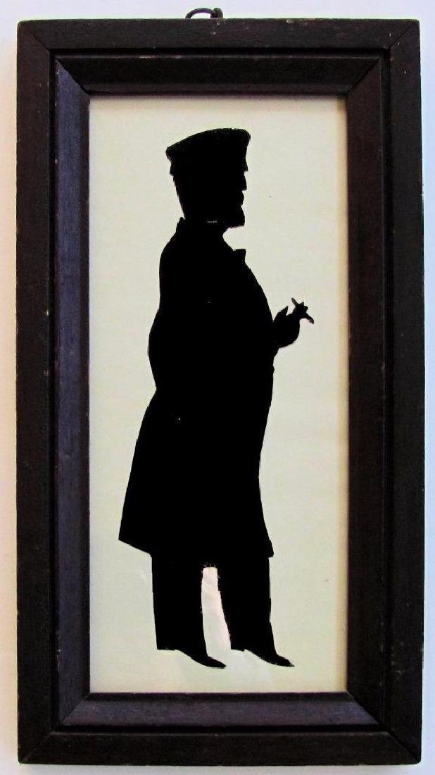 Scissor Cut Framed Silhouette of Man & Cigar