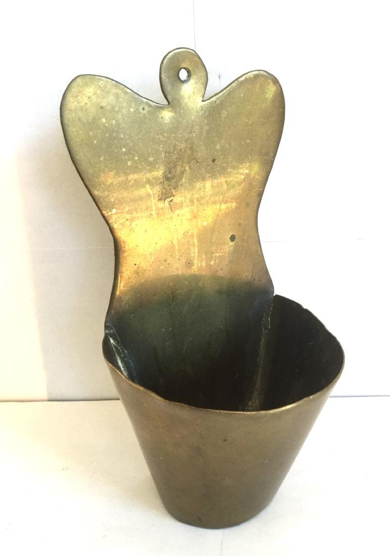 Brass Fireplace Match Holder