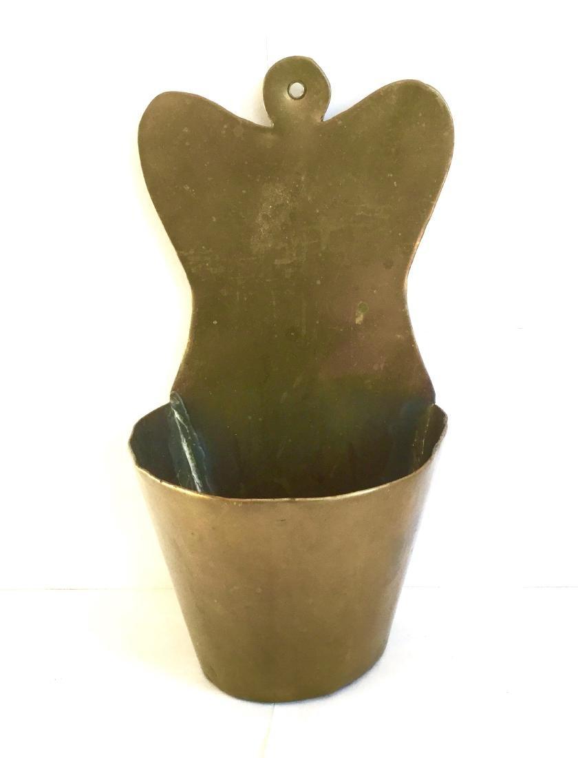 Brass Fireplace Match Holder - 2