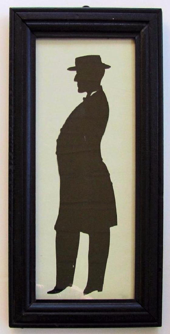 Scissor Cut Framed Silhouette of Man
