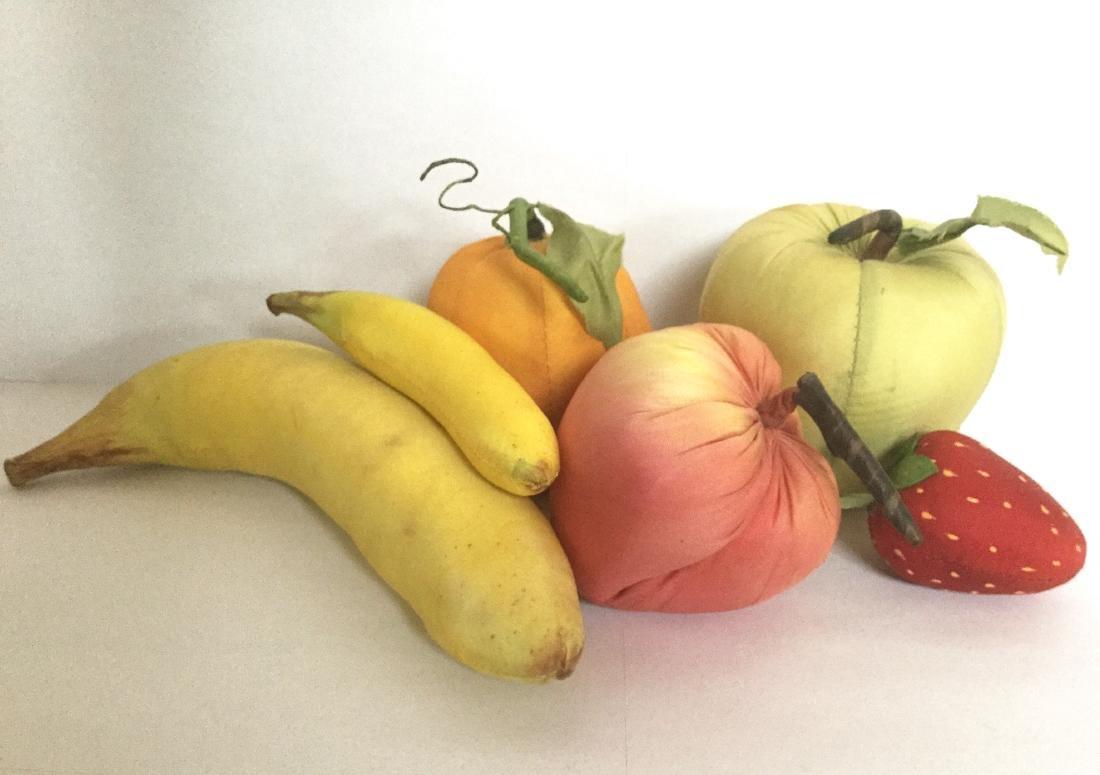 Six Pieces of Silk Fruit