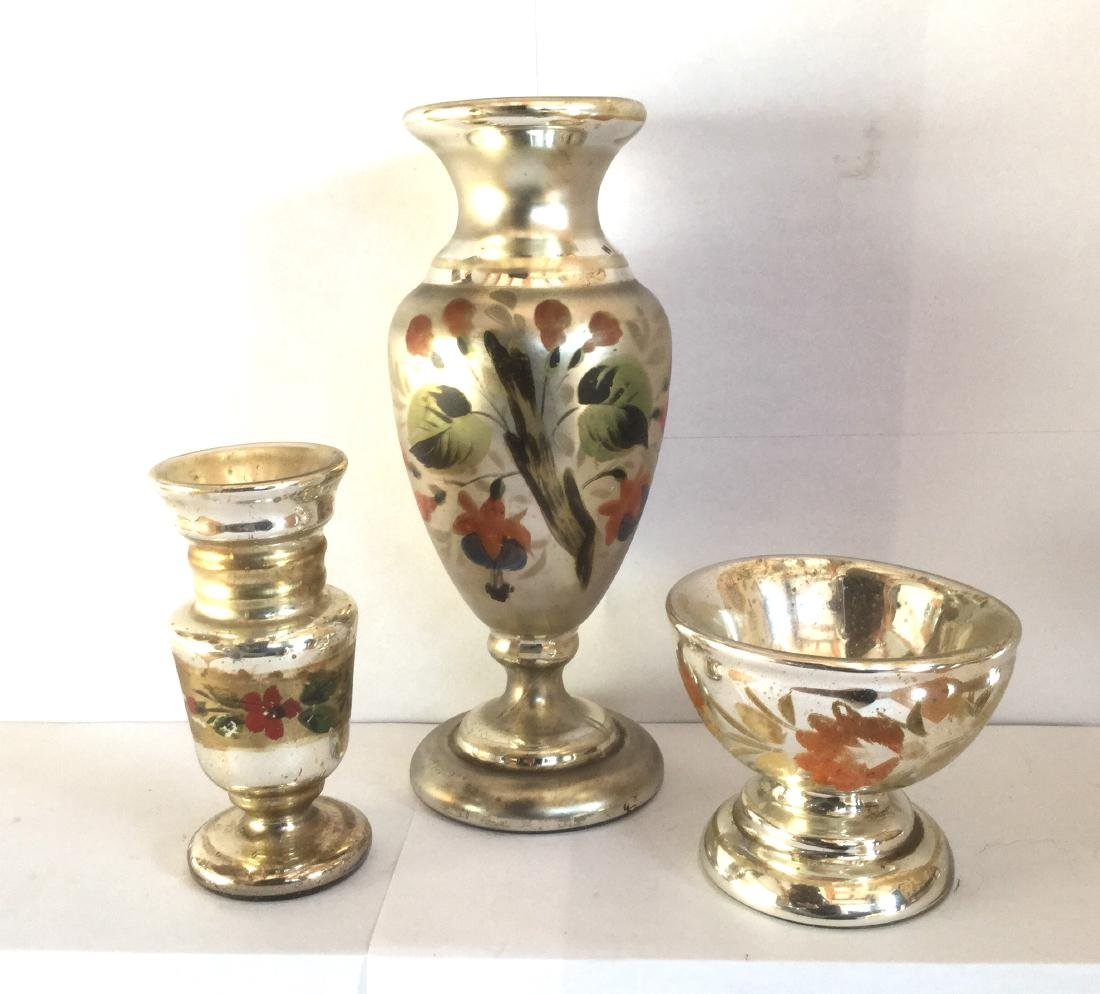 Group of Hand Blown Mercury Glass