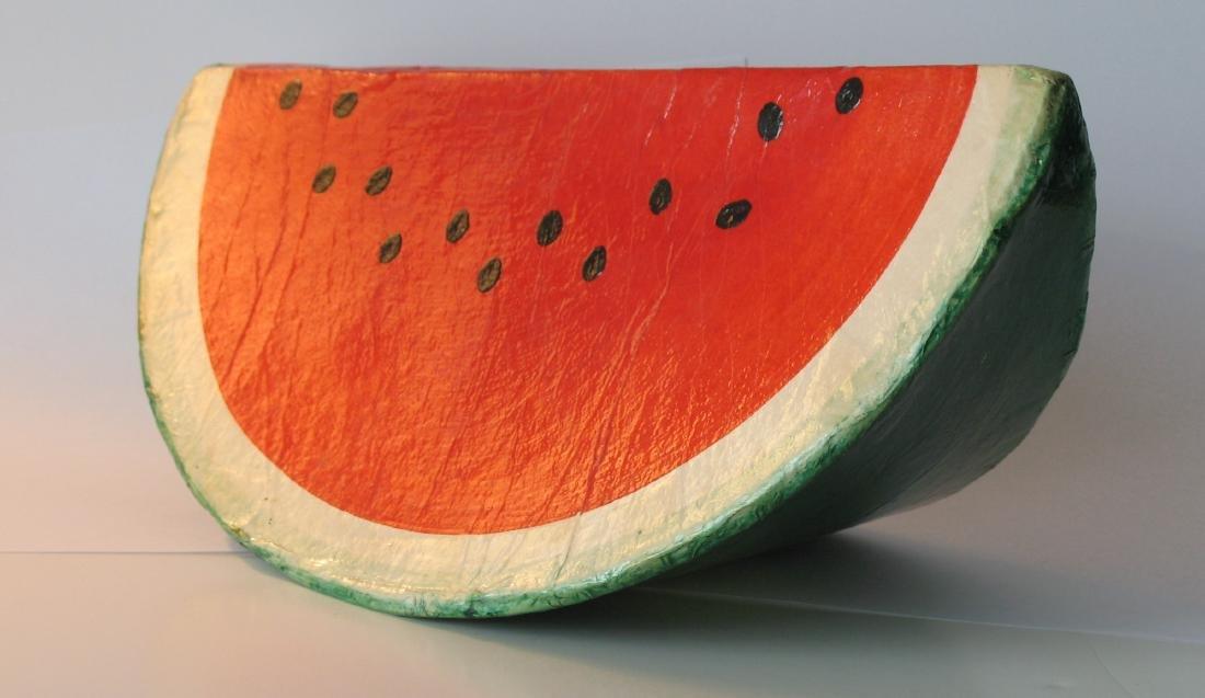Papier Mache Folk Art Watermelon