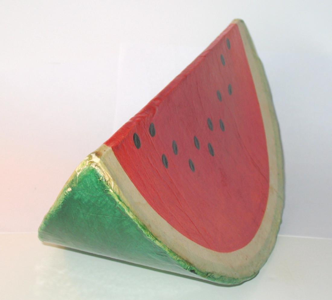 Papier Mache Folk Art Watermelon - 3