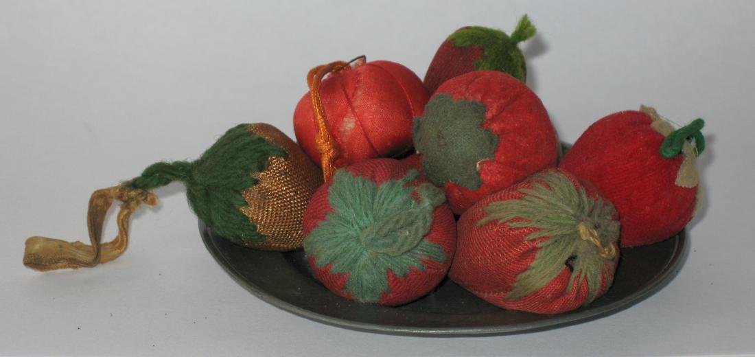 Eight Vintage Strawberry Emories