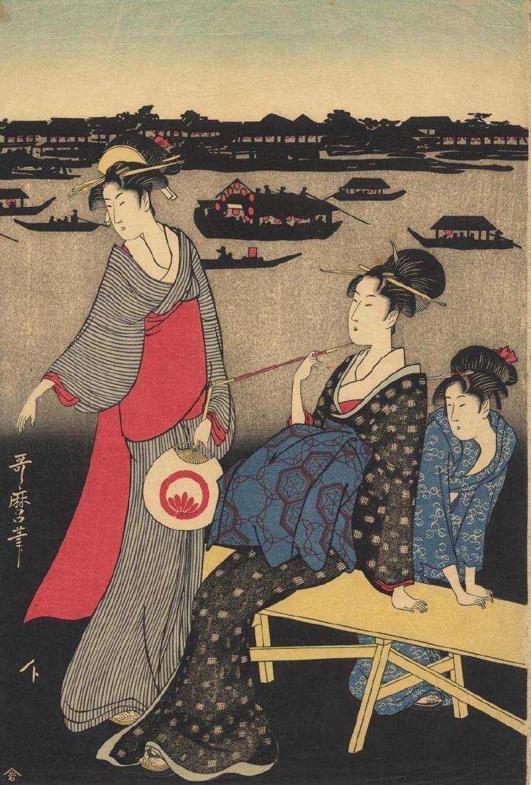 After Kitagawa Utamaro: Enjoying the Sumida river