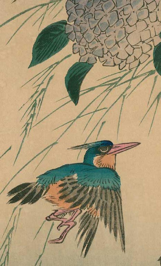 Ando Hiroshige: Hydrangea and Kingfisher - 2