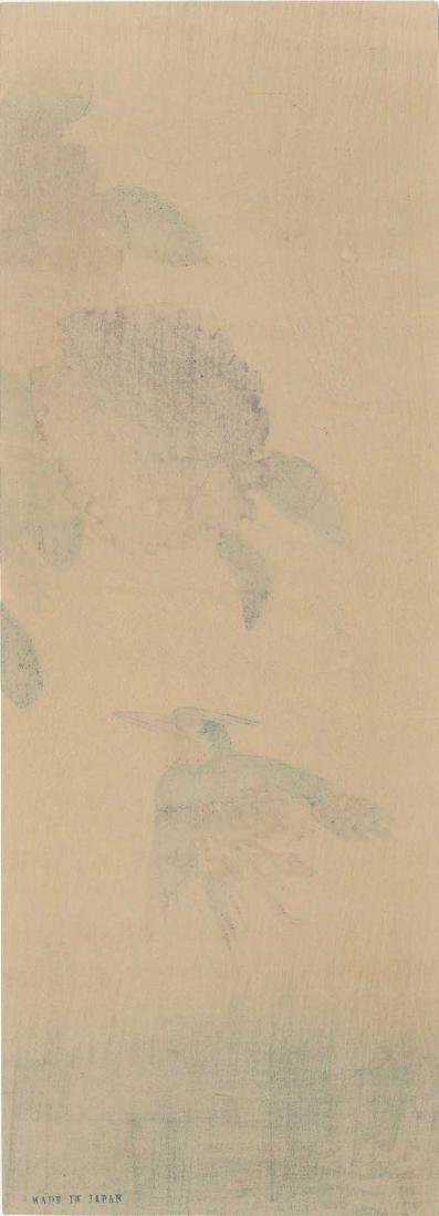 Ando Hiroshige: Hydrangea and Kingfisher - 3