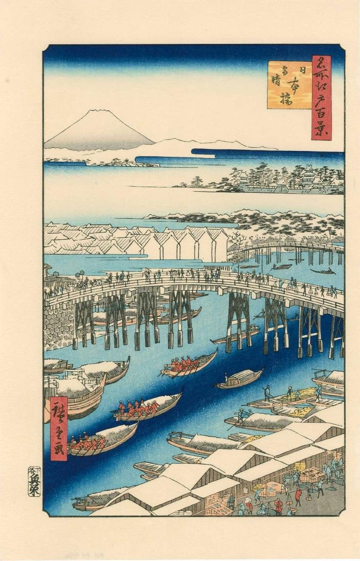 Ando Hiroshige: Nihonbashi, Clearing After Snow