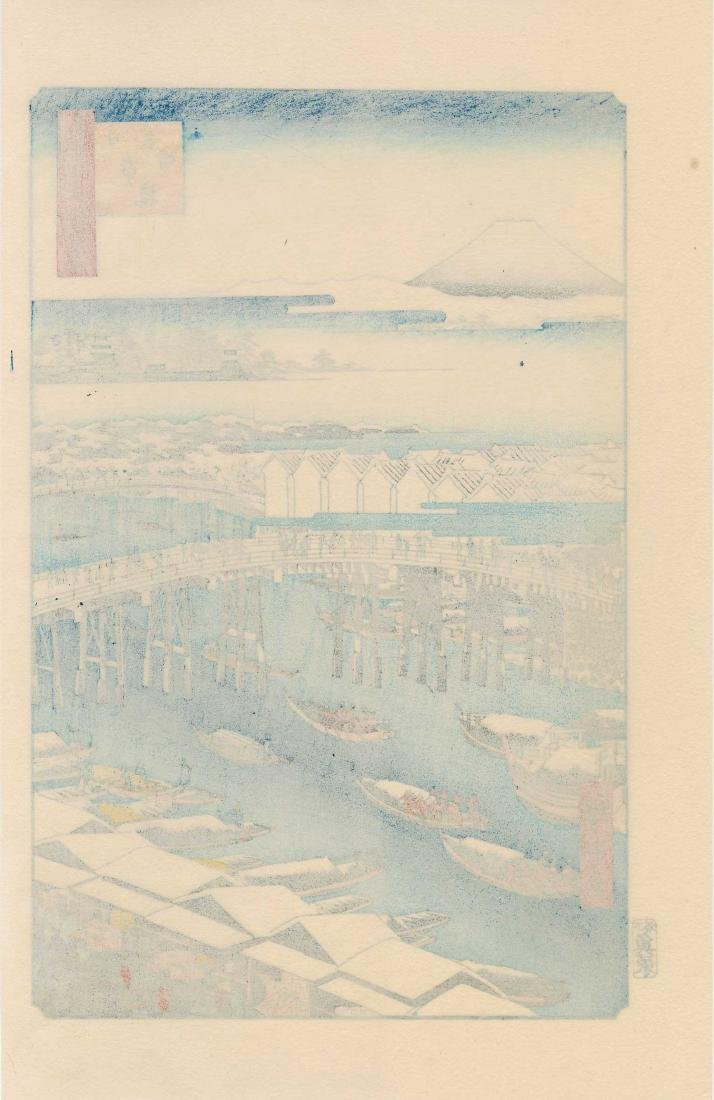 Ando Hiroshige: Nihonbashi, Clearing After Snow - 2