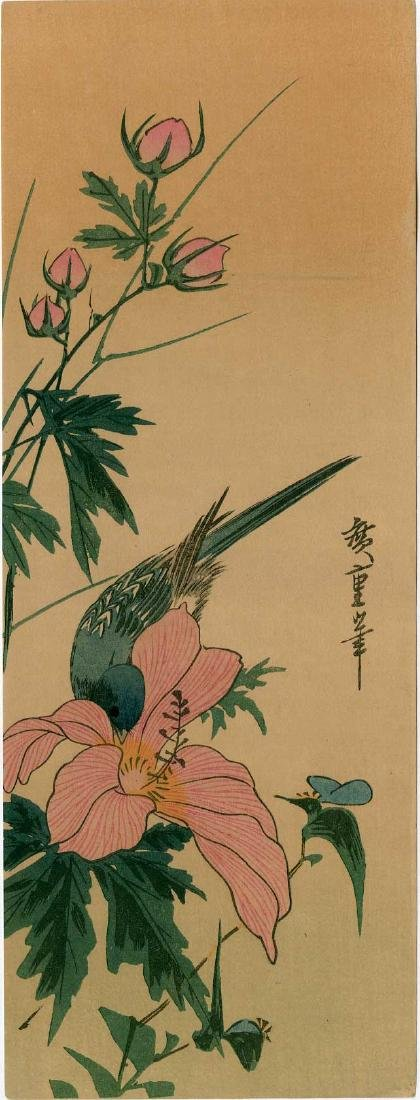 Ando Hiroshige: Rose and Blue Bird