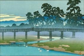 Hasui Kawase: Asano River In Kanazawa (pre-quake)