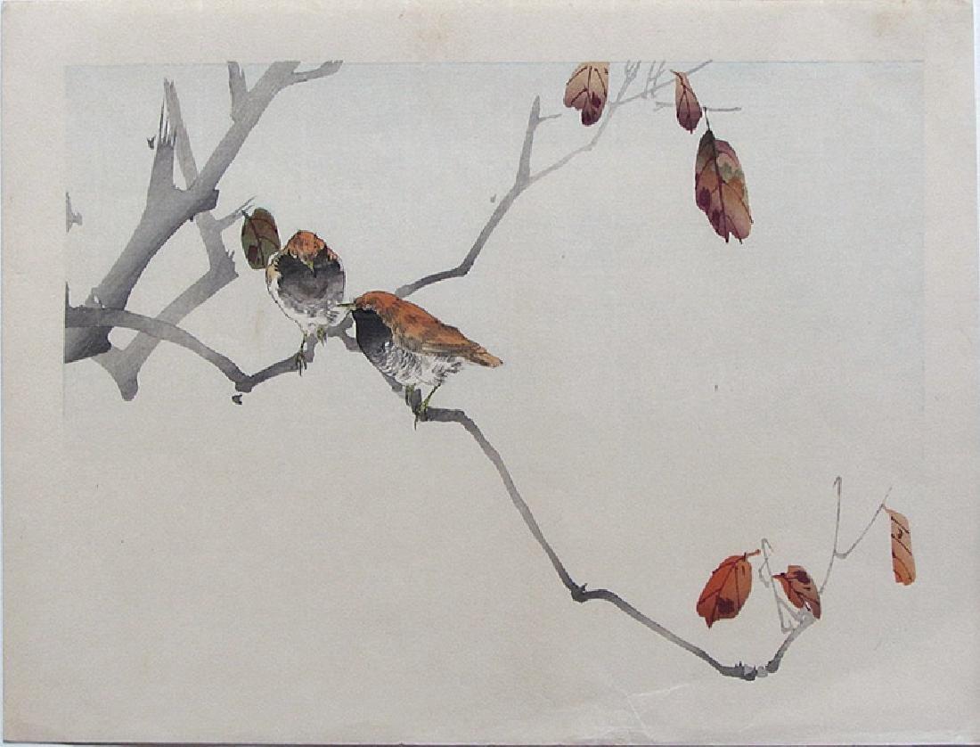 Watanabe Seitei: Birds on a Branch