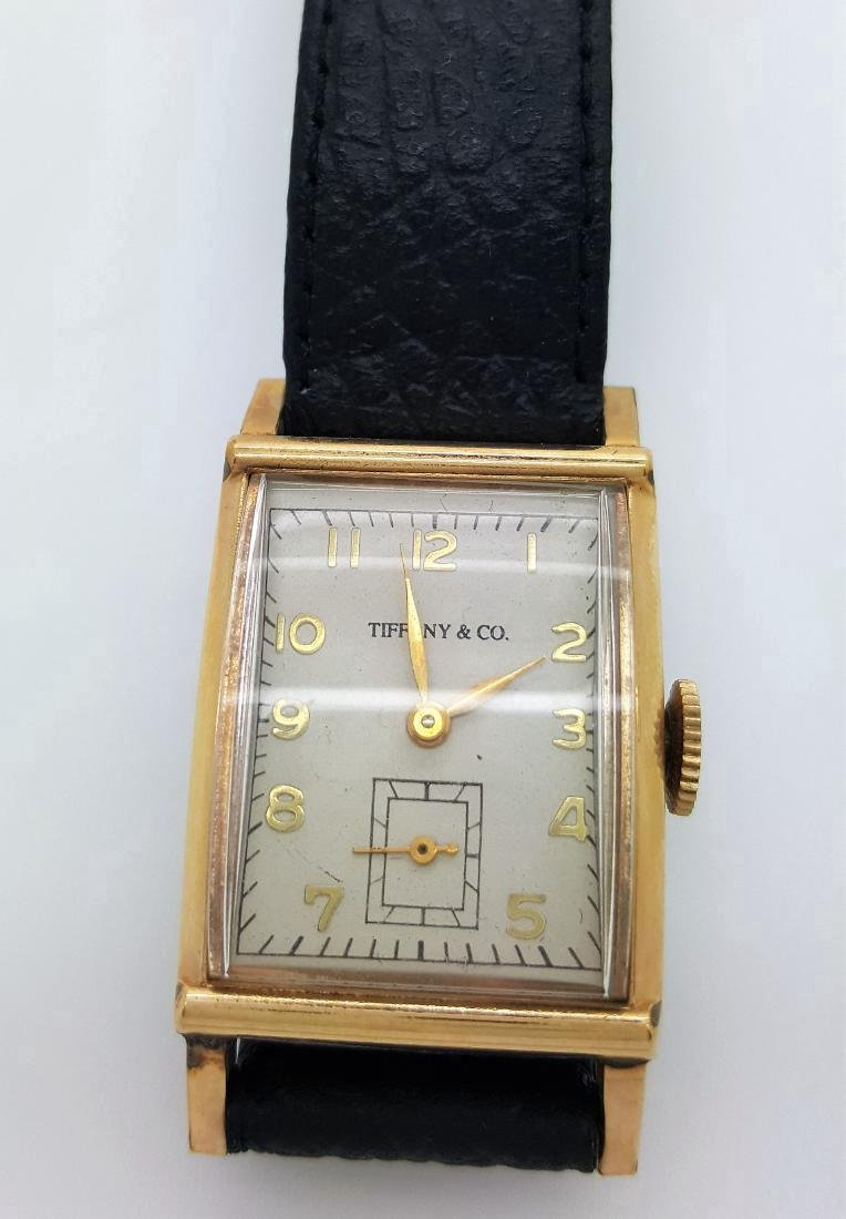 Vintage Tiffany & Co Mens 10K Gold Watch