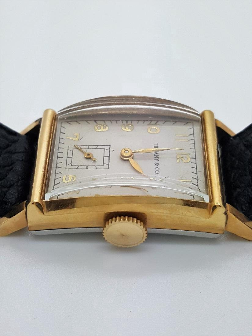 Vintage Tiffany & Co Mens 10K Gold Watch - 2