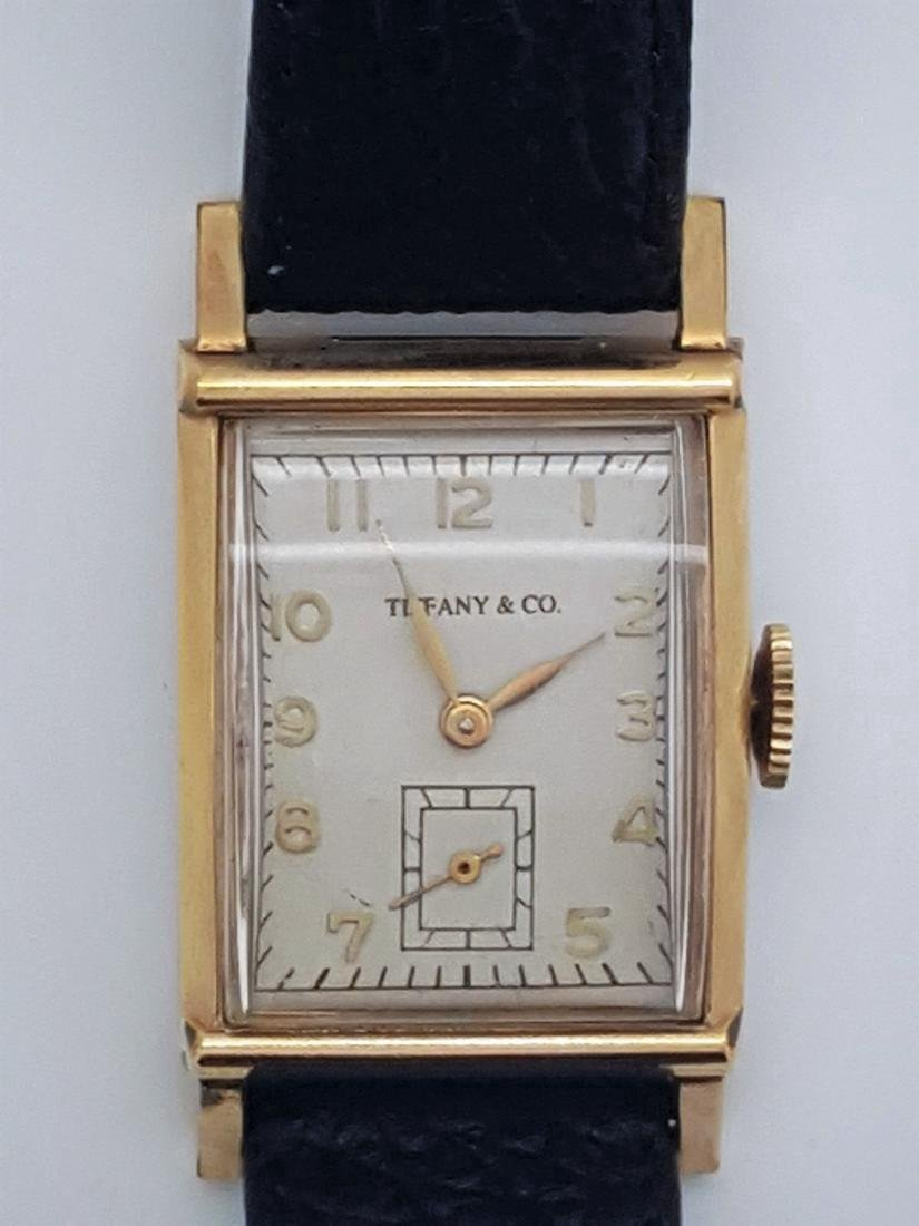 Vintage Tiffany & Co Mens 10K Gold Watch - 3