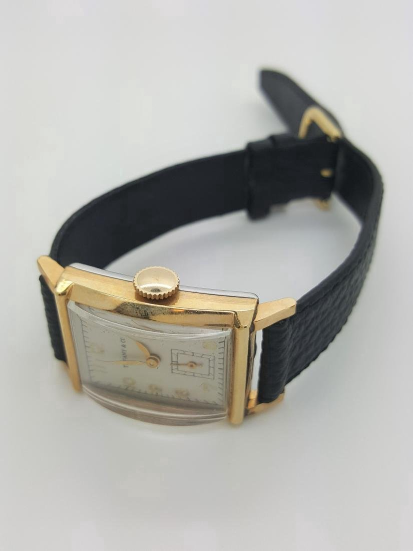 Vintage Tiffany & Co Mens 10K Gold Watch - 4
