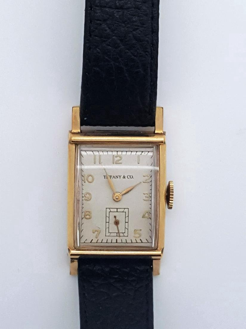 Vintage Tiffany & Co Mens 10K Gold Watch - 5