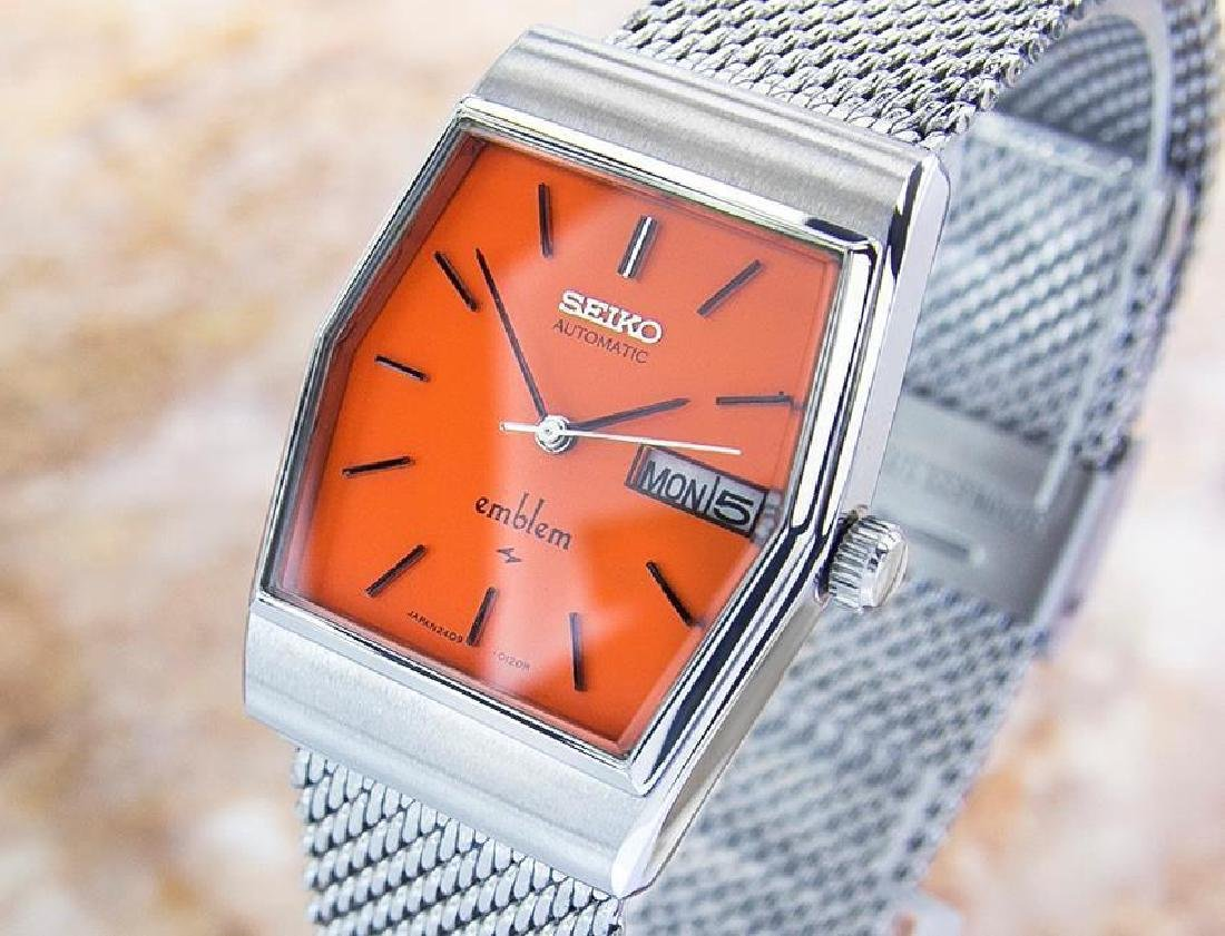 Vintage Seiko Emblem Stainless Steel Automatic Watch - 2