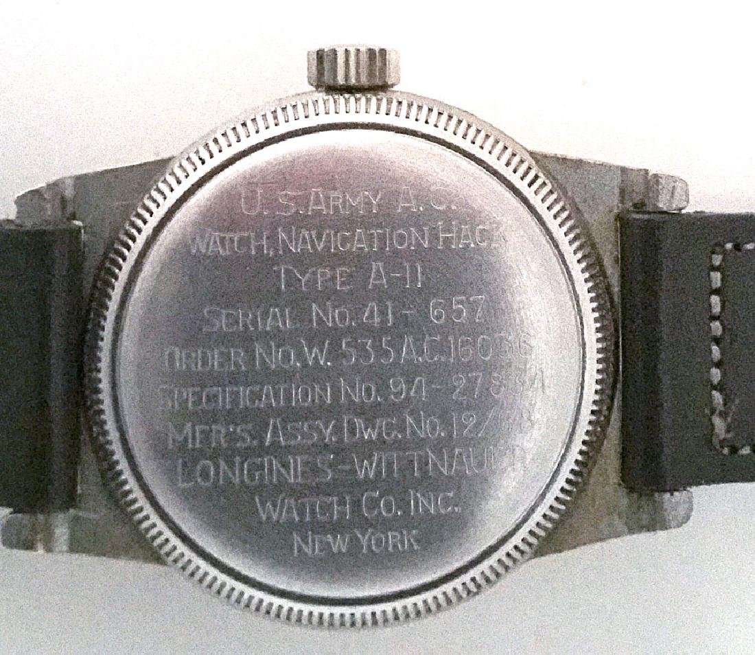 Vintage Longines Type A-11 US Army Navigation Watch - 2