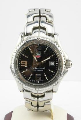 Tag Heuer Professional Stainless Steel Date Watch