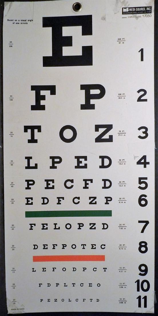 Professional Eye Chart
