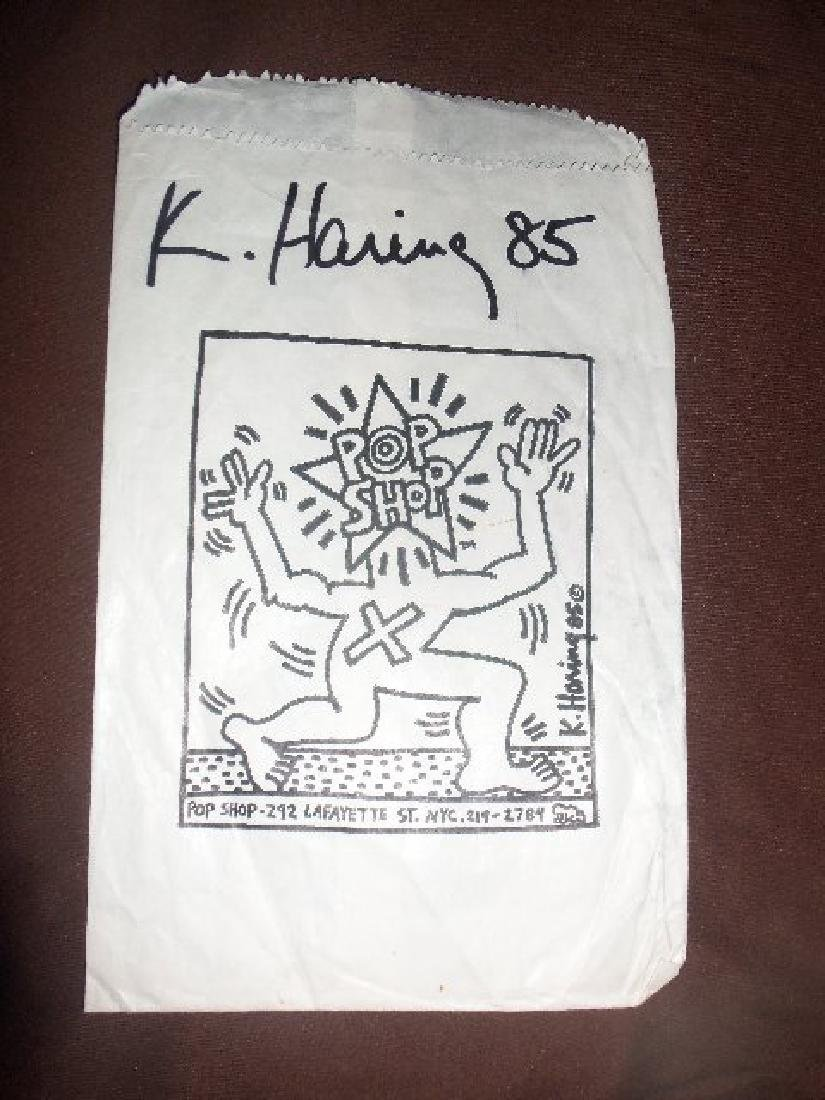 Haring - Original paper bag from the Pop Shop.